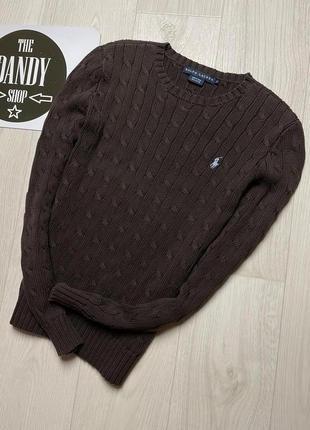 Вязаный свитер polo ralph lauren, размер s