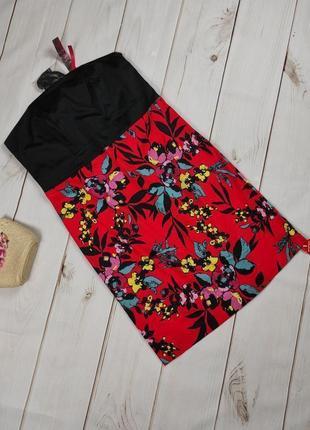 Платье новое цветочное стрейчевое большого размера uk 20/48/3xl