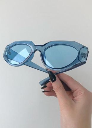 Голубые имиджевые очки