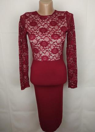 Платье шикарное по фигуре кружевное оригинал asos uk 8/36/xs