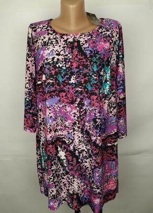 Платье туника новое красивое эластичное от дорогого бренда marina kaneva uk 16/44/xl
