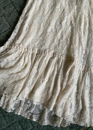 Классное кружевное платье zara3 фото