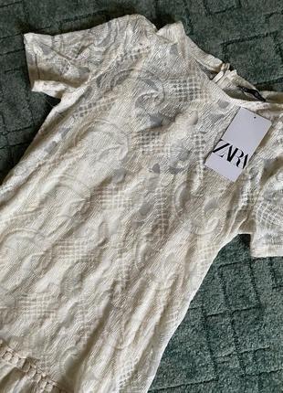 Классное кружевное платье zara4 фото