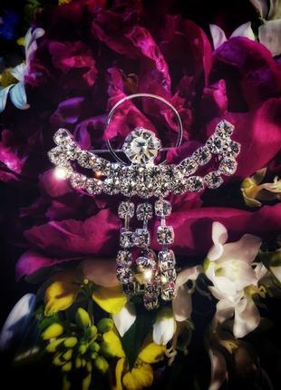 Американская брошь ангел стразы камни кристаллы цепочка