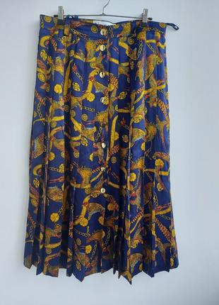 Шелковая юбка плиссе