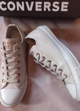 Кеды кожаные/ converse/ оригинал.