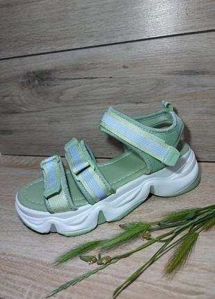 Босоножки на платформе 🍓 сандалии лето босоніжки сандалі спортивные рефлектор липучки