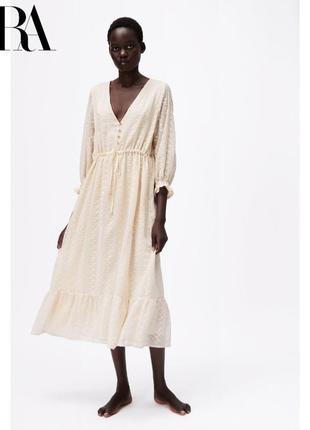 Платье zara из невероятной ткани