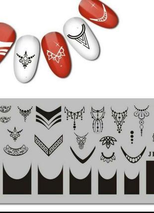 Пластина для стемпинга ногтей маникюра дизайна для стемпінгу нігтів манікюру