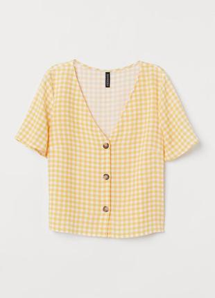H&m divided блуза в клеточку размер европейский 42