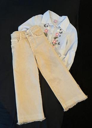 Широкие джинсы, кюлоты zara