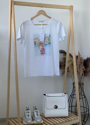 Красивая футболка в модный принт jean louis francois🇮🇹