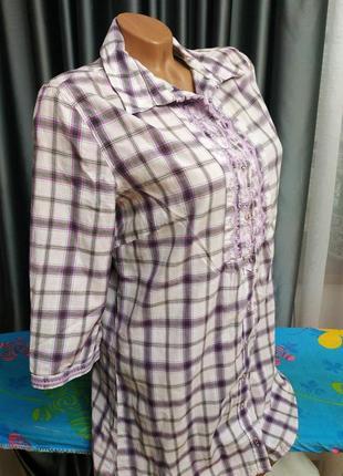 Натуральна сорочка туніка рубашка блузка туника