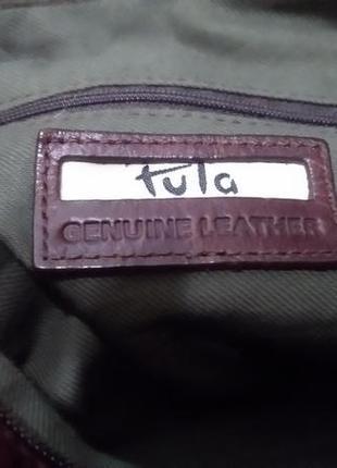 Сумка из натуральной кожи английского бренда tula5 фото