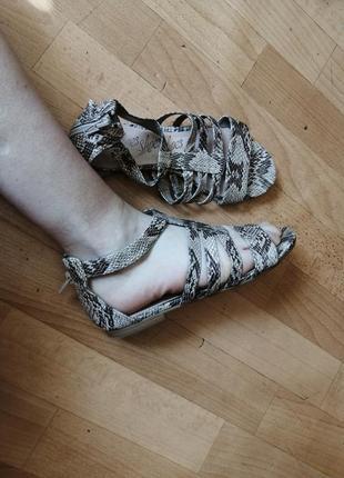 Босоножки сандалии в змеиный принт р 37-38
