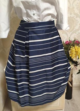 Красивая стильная юбка в полоску