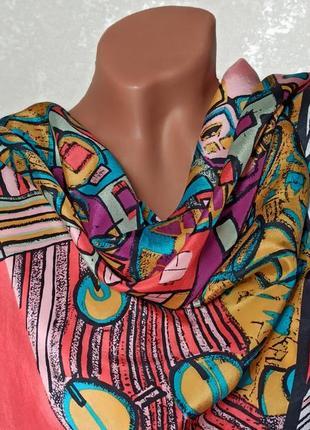 Красивый шелковый платок, 100% шелк