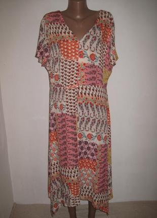 Вискозное платье f&f р-р18