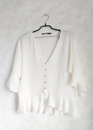 Блуза блузка  рубашка zara