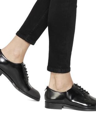 💯 оригінал брендові шкіряні туфлі на шнурках