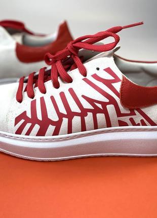 Замшевые итальянские кроссовки