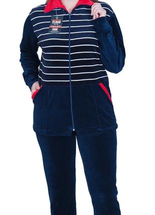 Женские спортивные велюровые костюмы батал
