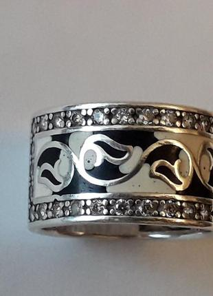Серебряное кольцо в эмалях