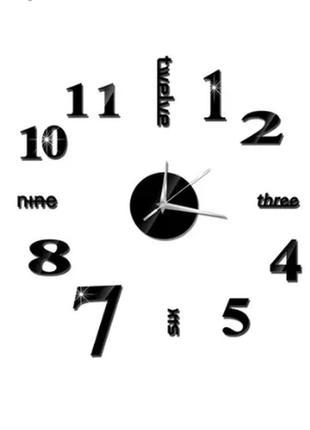 Часы наклейка настенные 60×60см