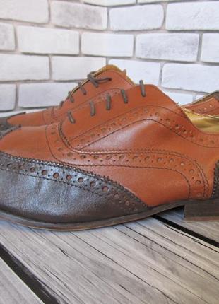 Кожаные туфли броги topman