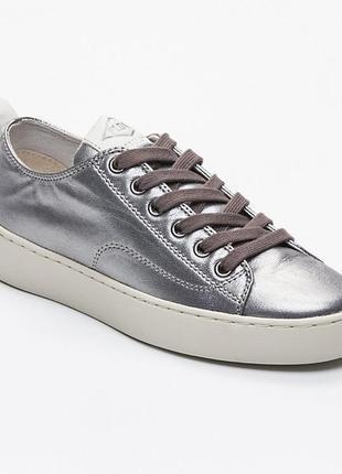 Новые серебряные кроссовки palladium, франция кеды серебро сникерсы оригинал