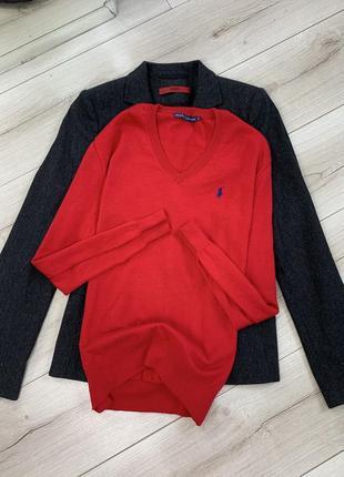 Красная кофта polo ralph lauren оригинал хлопок