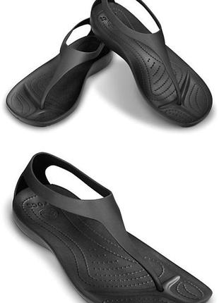 Crocs sexi flip black w10, w11. оригинал