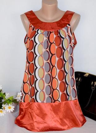 Брендовая блуза туника без рукавов papaya этикетка цена снижена