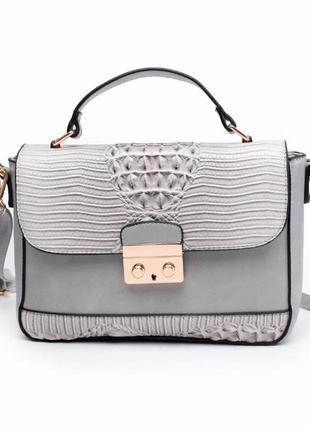 Красивый женский клатч / серый / мода1 фото