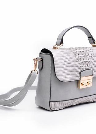 Красивый женский клатч / серый / мода2 фото