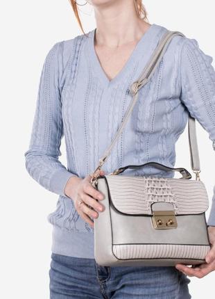 Красивый женский клатч / серый / мода4 фото