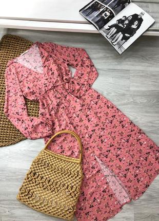 Рожева сукня в квіти george