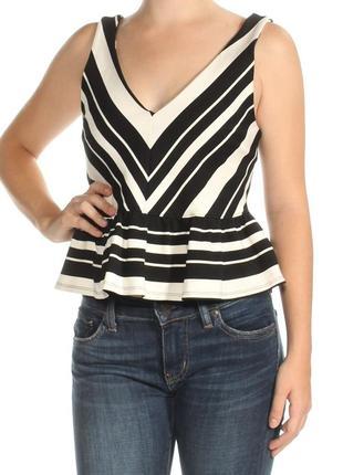 Блуза приталенная кроп-топ с оборкой по низу м