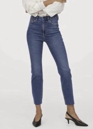 Джинсы vintage slim denim mom jeans h&m