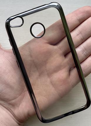 Силиконовый черный прозрачный чехол на для ксиоми редми xiaomi redmi 4x