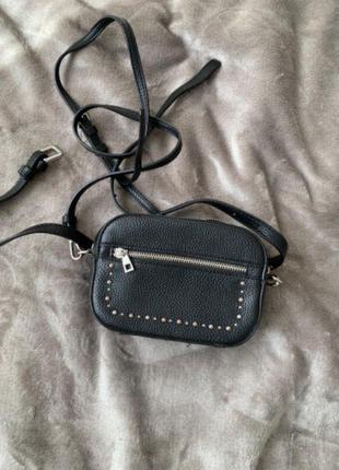 Мини сумка с двумя ремешками поясная и через плече zara оригинал