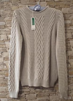 Пуловер, 100 хлопок, united colors of benetton, итадия
