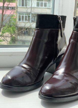 Ботинки женские zara basic collection! 38р-р, 24 см