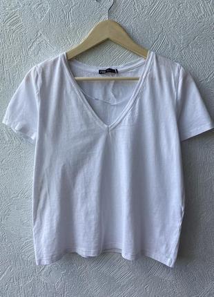 Базова біла футболка zara