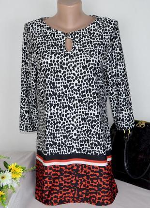 Брендовая леопардовая блуза туника m&co великобритания анималистичный принт этикетка