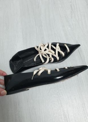 Балетки на шнурках туфли zara