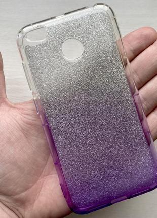 Силиконовый прозрачный серебристый чехол на для ксиоми редми xiaomi redmi 4x