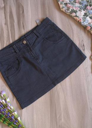 Брендовая джинсовая юбка для девочки рост 152-158