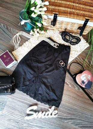 🤩распродажа! шикарная юбка подьюбник в горох в бельевом стиле 1013