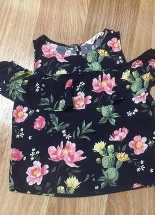 Блуза детская для девочки10-11 лет с открытыми плечами